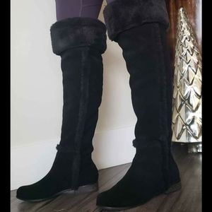 Shoes - *2/$150* *NEW BCBG suede over the knee boots